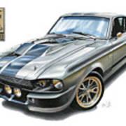 Shelby Mustang Gt500 Art Print