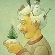 Snovy Winter Art Print