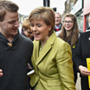 SNP Leader Nicola Sturgeon Unveils An Anti-Austerity Plan To Boost the NHS Art Print