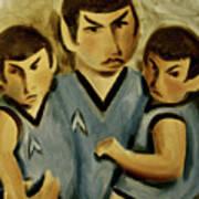 Spock Twins Art Print Art Print