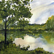 Spring Comes Slowly on the Suwannee River Art Print