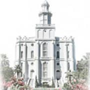 St George Temple - Celestial Series Art Print