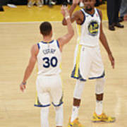 Stephen Curry and Kevin Durant Art Print