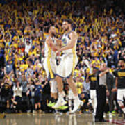 Stephen Curry and Klay Thompson Art Print
