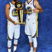 Stephen Curry and Quinn Cook Art Print