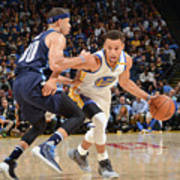 Stephen Curry and Seth Curry Art Print