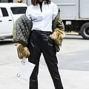 Street Style - New York Fashion Week February 2017 - Day 5 Art Print