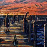 Sunrise At The Inlet Art Print