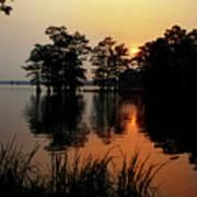 Sunrise on Reelfoot Lake Art Print