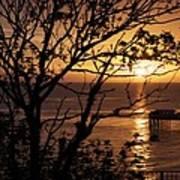 Sunrise over Llandudno pier Art Print