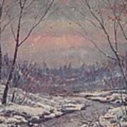 Sunset In Winter. Art Print