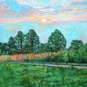 Sunset Near Fancy Gap Art Print
