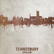 Tewkesbury England Skyline #20 Art Print