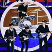 The Beatles - Live On The Ed Sullivan Show Art Print