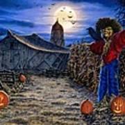 The Spooky Scarecrow Art Print