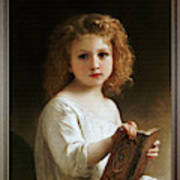 ART PRINT The Story Book by William Adolphe Bouguereau