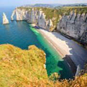 The white cliffs of Etretat, the alabaster coast Art Print