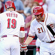 Todd Frazier and Joey Votto Art Print