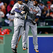 Torii Hunter and Austin Jackson Art Print