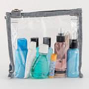 Travel Toiletries in Clear Plastic Bag Art Print