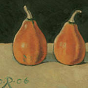 Two Orange Pumpkins Art Print