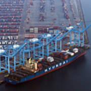 U.S. Oil Workers Threaten To Expand Strike To California Port Art Print