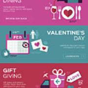 Valentine's Day Banners Art Print