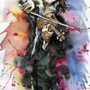 Violine player. Art Print