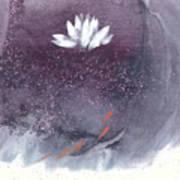 White Lotus I Art Print