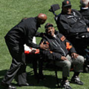 Willie Mays, Barry Bonds, And Willie Mccovey Art Print