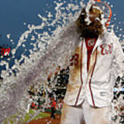 Wilson Ramos and Jayson Werth Art Print