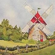 Windmill on Ile aux Coudres Quebec  Art Print