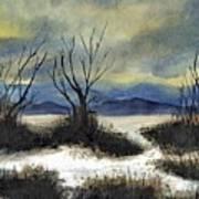 Winter Cold Big Bear Lake Art Print
