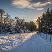 Winter landscape from Lista in Norway Art Print