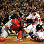Yadier Molina And Jonny Gomes Art Print