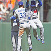 Yasiel Puig, Scott Van Slyke, and Matt Kemp Art Print