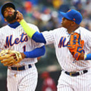 Yoenis Cespedes and Amed Rosario Art Print