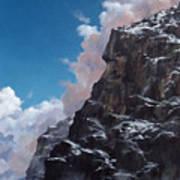 Yosemite cliff face Art Print