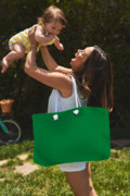 Pantone 348 Forest Green Color On Worn Canvas Weekender Tote Bag