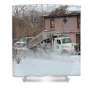 Ohio Snow Plow Shower Curtain