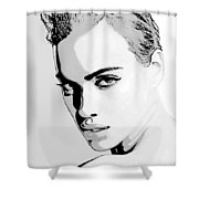 # 1 Irina Shayk Portrait Shower Curtain
