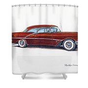 1956 Oldsmobile Super 88 Shower Curtain