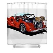Morgan 4 Plus 4 1961 Shower Curtain