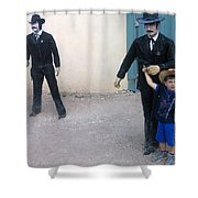 3 Godfathers Homage 1948 Ok Corral Tombstone Arizona  Shower Curtain