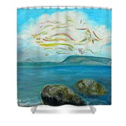 A Cloud Over The Sea Shower Curtain
