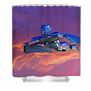 A Flying - Flying Lady  Shower Curtain