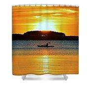 A Reason To Kayak - Summer Sunset Shower Curtain
