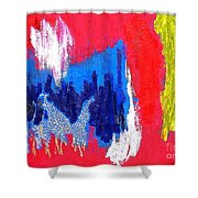 Abstract Tn 005 By Taikan Shower Curtain
