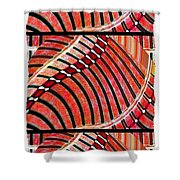 Abstract Fusion 204 Shower Curtain