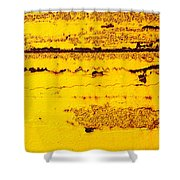 Abstracted In Ochre Shower Curtain